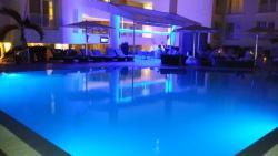 Pool Blue Lights