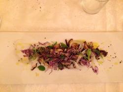 insalata di funghi di quercia