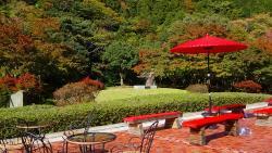 庭園の休憩所