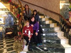 escalera de la entrada del hotel. ..!!♡♡♡♡