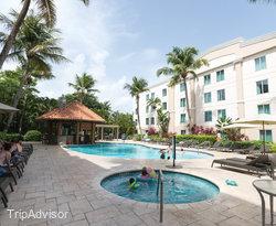 The Outdoor Pool & Terrace at the Hampton Inn & Suites San Juan