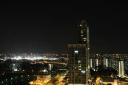 View from the hotel to Kallang River at night