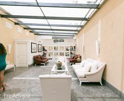 Lobby at the Hotel Villa Athena