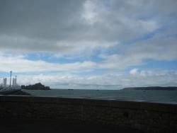 View from Room - Elizabeth Castle at High Tide