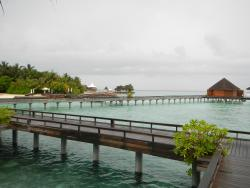 Decks leading to overwater rooms
