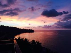 View during sunset happy hour at Vanilla Sky