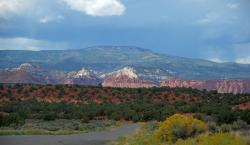 Driving the paved road in Escalante