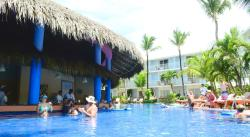 The pool bar before noon -- it picks up after noon.