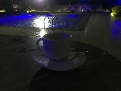 Experienced the first rains of this year in Dubai on 1st of November  with a hot cup of cappucci