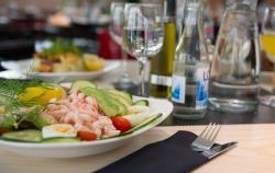 Enjoy a tasty salad in our restaurant