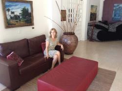 foto na recepção do hotel