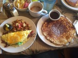 ATB Omlette and 1 pancake