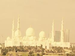 Sheikh Zayed Grand Mosque viewed from The Ritz
