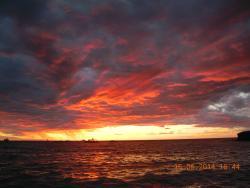 tramonto dalla spiaggia hotel