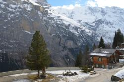 View of the mountains from Hotel Eiger