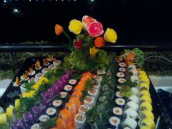 A veritable garden of sushi etc
