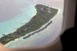 Aerial view of Kuramathi Island