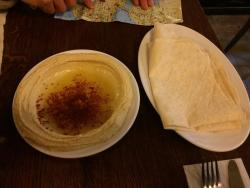 Big hummus portion. It was great!