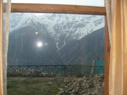 View of Kinner Kailash mountain from room.