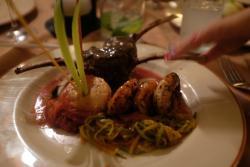 French restaurant dinner