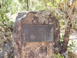 The Plaque outside of the Powder Magazine