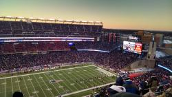 The hotel is wicked close to Gillette Stadium