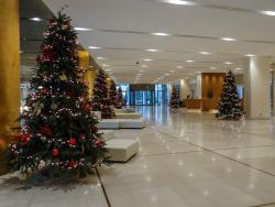 Christmas decorations at the Lobby