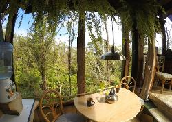 Dining table.. it almost feels like you are outside!