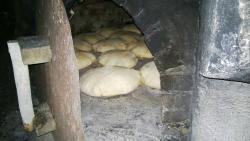 Hand made fresh bread in our Karpathian oven!