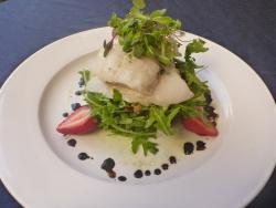 Coral Trout with a Strawberry Balsamic salad
