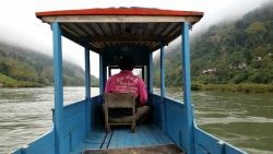 Long boat trip up river