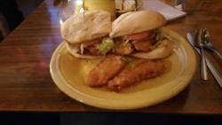 Beer-battered Fried Chicken & Frickle Sandwich