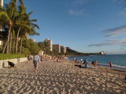 Beach walk from the restaurant