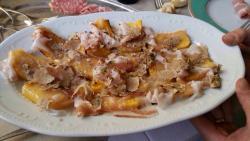 Polenta lardo e tartufo
