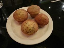 Delicious complimentary mini muffins