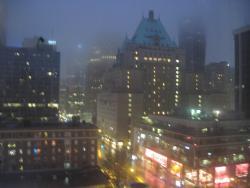 Looking towards Robson Street from 10th Floor