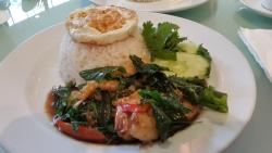 Pad Krapow Talay ( seafood )