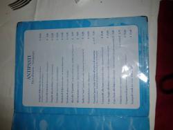 Speiskarte im Al Fogher in Caorle