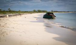 "A mile up the beach, shipwrecked ""Esperanza"""