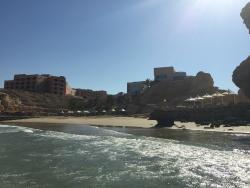 une des plages privées