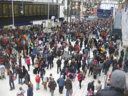 Waterloo on a crowded day