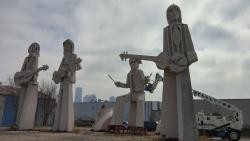 Giant Beatles Statues