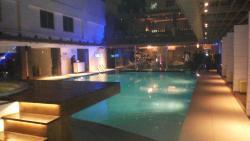 Hotel park swimming pool