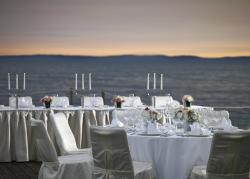 Beach bar wedding setup