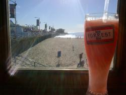 Cherry slushie with a great view!