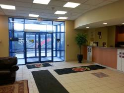 The front lobby at super 8 Mississauga hotel