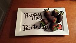 birthday strawberries