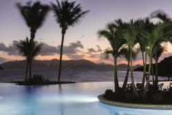 The infinity pool at The Ritz-Carlton, St. Thomas