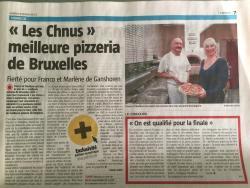 """elue """"meilleure pizzeria de Bruxelles 2015 3"""