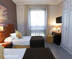 The Double Room at the Hotel Puerta de Toledo